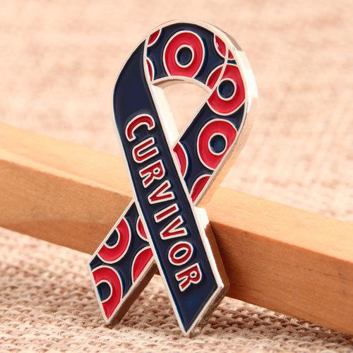 Curvivor Awareness Pins