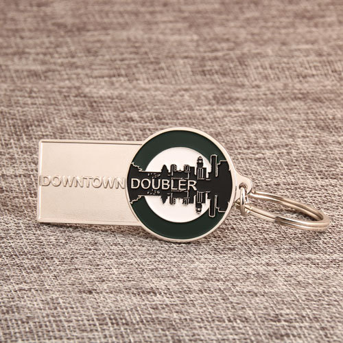 Downtown Doubler Personalized Keychains