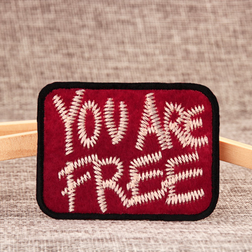 You are free embroidered patches