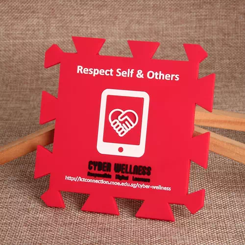 Red PVC Coasters