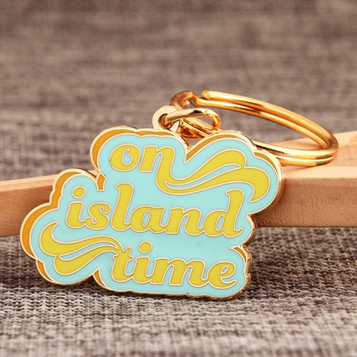 On Island Time Personalized Keychains