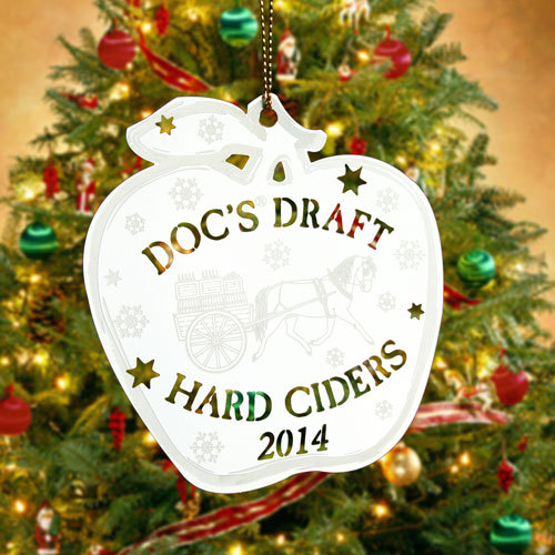 Hard Ciders Custom Etched Ornaments