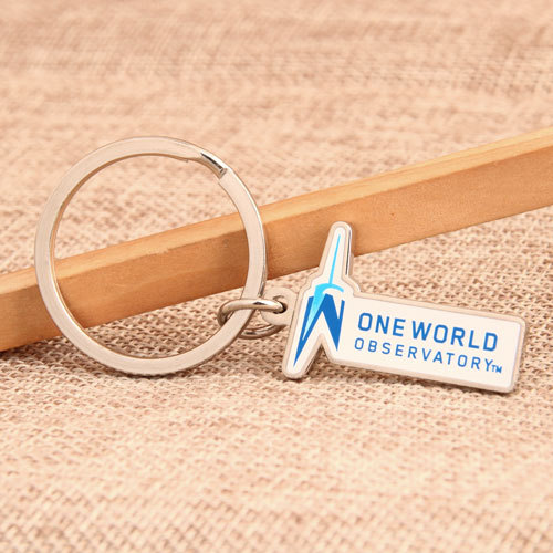 One World Observatory Personalized Keychains