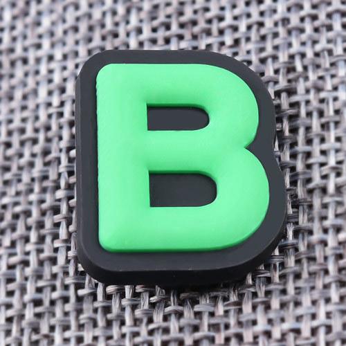 Letter B PVC Patches