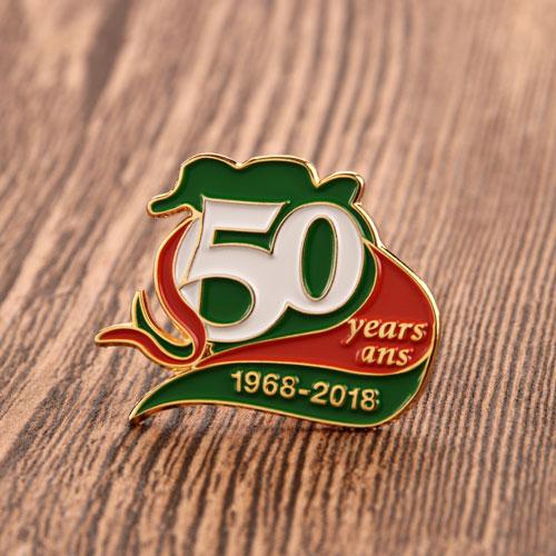50 Years Enamle Pins