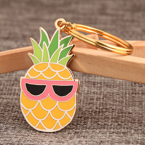 Pineapple Personalized Keychains