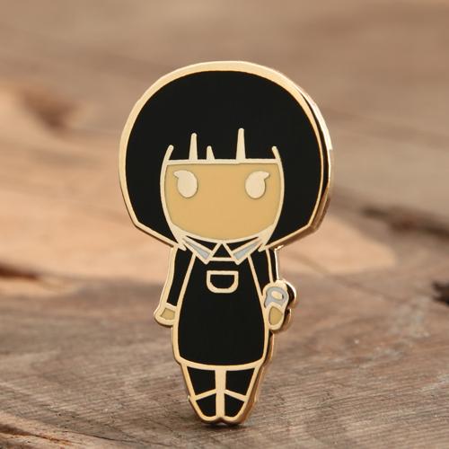 Girl Enamel Pins