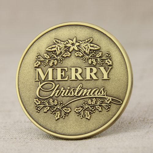 Merry Christmas Custom Coins