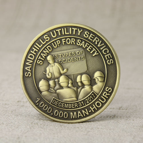 Safety Custom Challenge Coins No Minimum