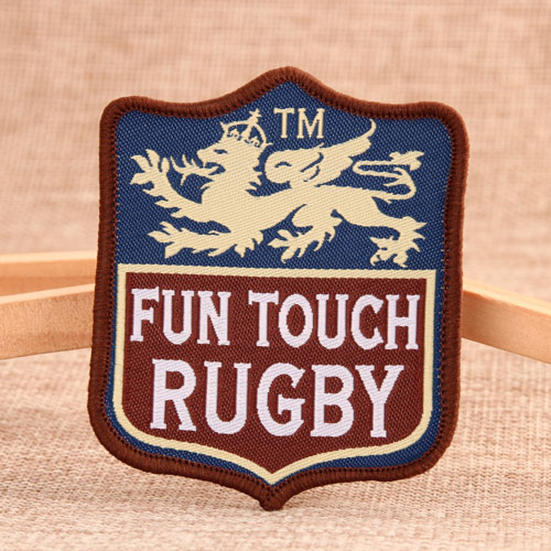 Fun Touch Rugby Woven Patches