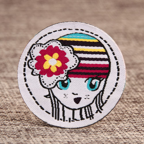 Flower Girl Woven Patches