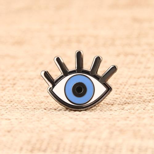 Custom Blue Eye Pins