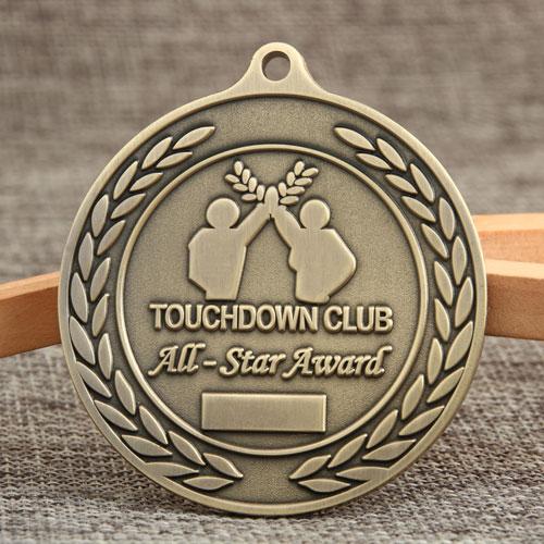 Touchdown Club Custom Medals