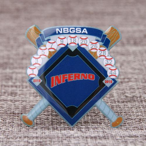 Custom Inferno Baseball Pins
