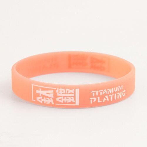 Titanium Plating Silicone Wristbands