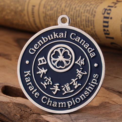 Karate Championships Custom Medals