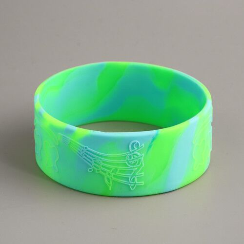 Swirled Funny Silicone Wristbands