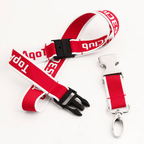 Red TopAS3Club Woven Lanyards