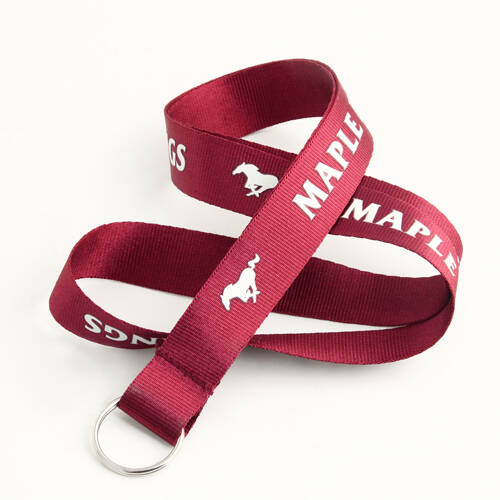 Maple Heights Mustangs Red Lanyards