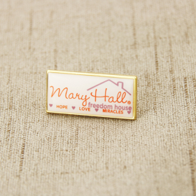 Mary Hall House Printed Lapel Pins
