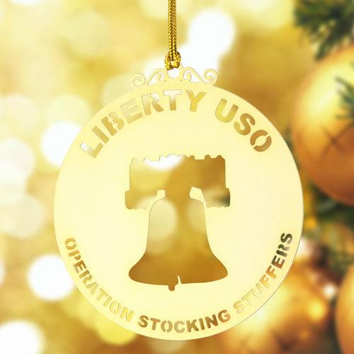 Liberty USO Gold Ornaments