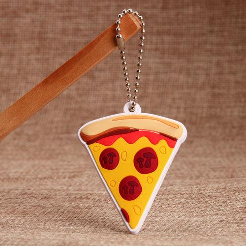 3D Pizza PVC Keychains