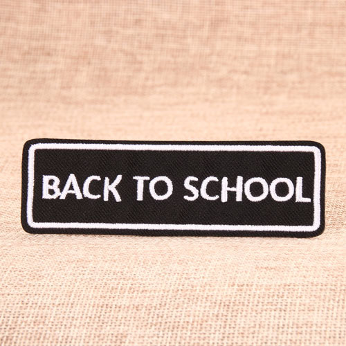 Back to school custom patches