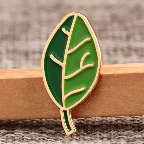 Green Leaves Custom Pins