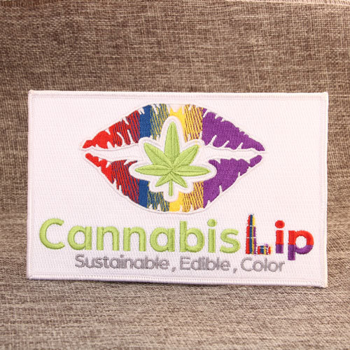 Cannabis Lip Custom Patches
